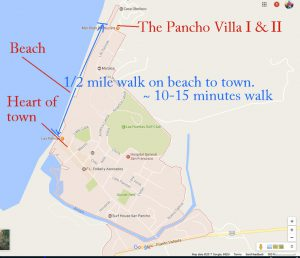 Maps And Directions The Pancho Villa I Ii Beach Rental Vacation
